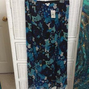 Cato Flower Print Maxi Skirt